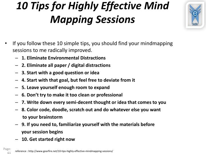 10 Tips for Highly Effective Mind Mapping Sessions