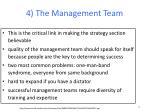 4 the management team