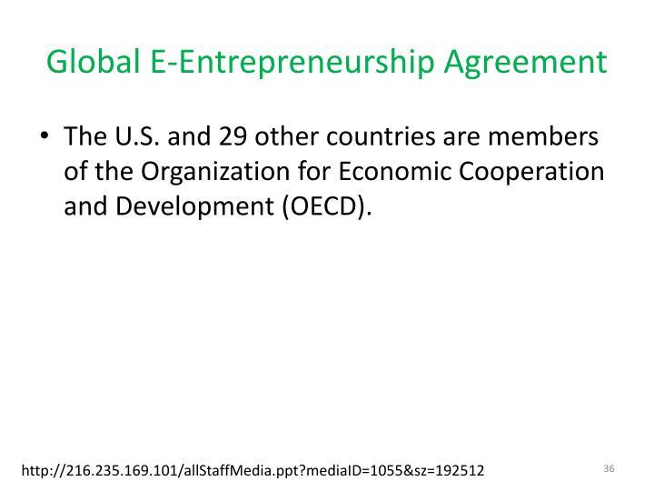 Global E-Entrepreneurship Agreement