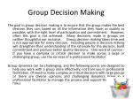 group decision making1