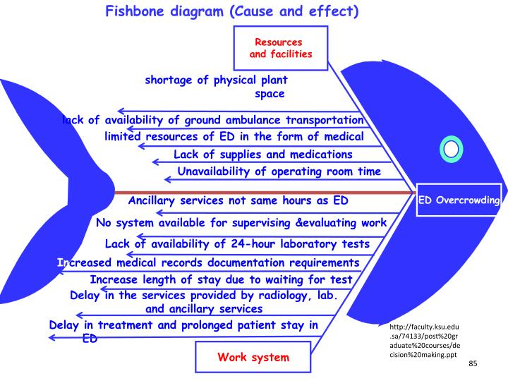 Fishbone diagram (Cause and effect)