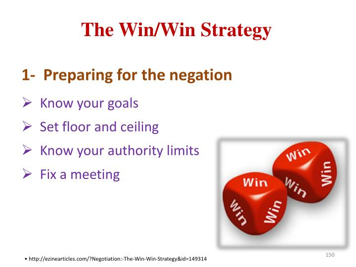 The Win/Win Strategy