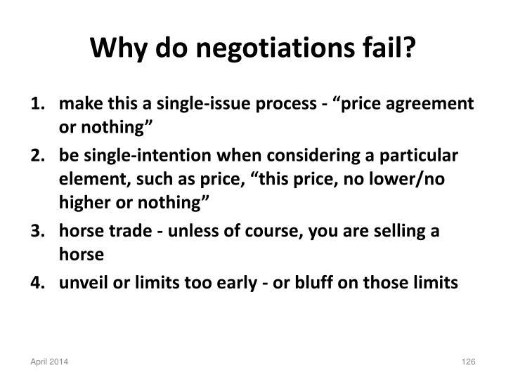 Why do negotiations fail?