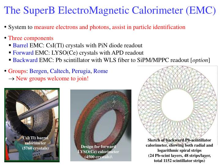 The SuperB ElectroMagnetic Calorimeter (EMC)