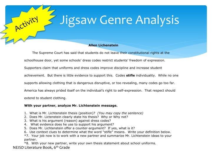 Jigsaw Genre Analysis