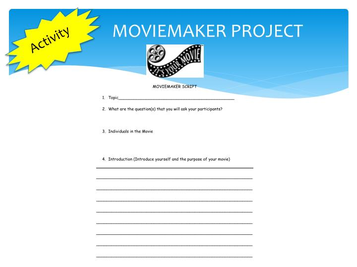 MOVIEMAKER PROJECT