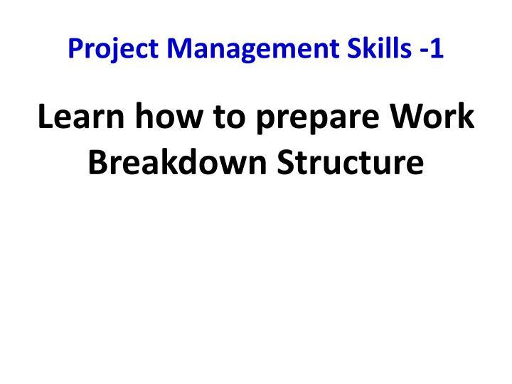 Project Management Skills -1