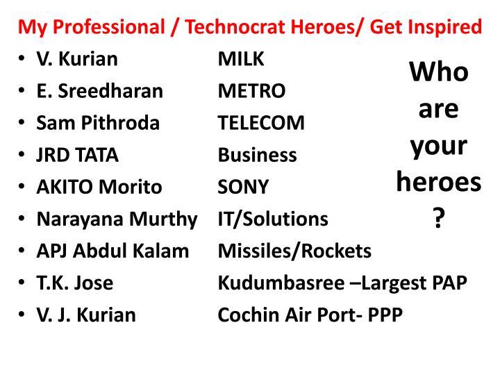 My Professional / Technocrat