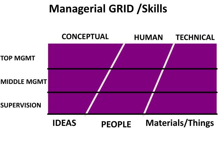 Managerial GRID /Skills