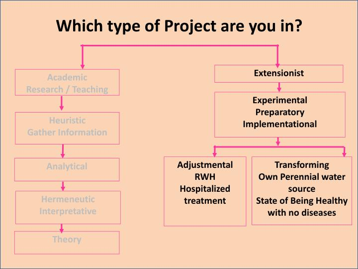 Which type of Project are you in?