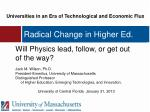 radical change in higher ed