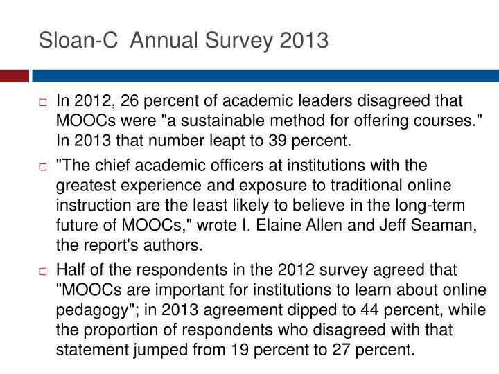 Sloan-C  Annual Survey 2013