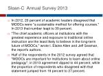 sloan c annual survey 20131