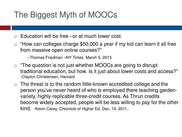 The Biggest Myth of MOOCs