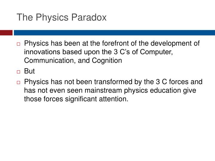 The Physics Paradox