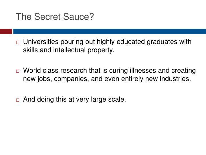 The Secret Sauce?