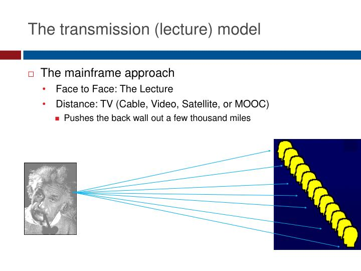 The transmission (lecture) model