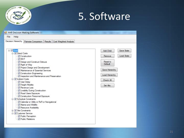 5. Software