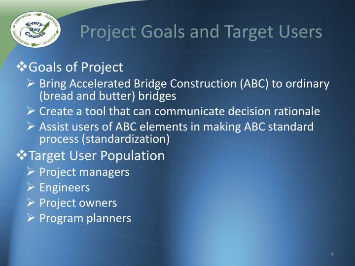 Project Goals and Target Users