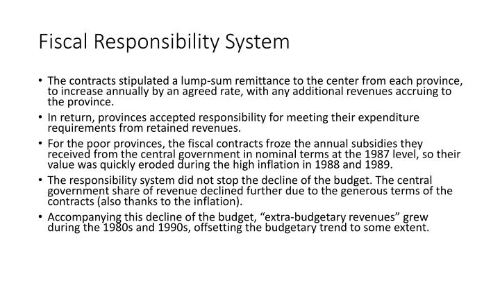 Fiscal Responsibility System