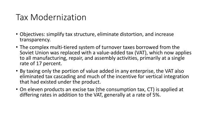 Tax Modernization