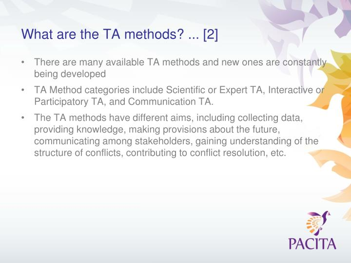 What are the TA methods? ... [2]