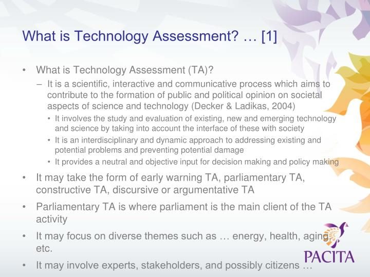 What is Technology Assessment? … [1]