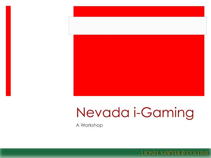 Nevada i gaming