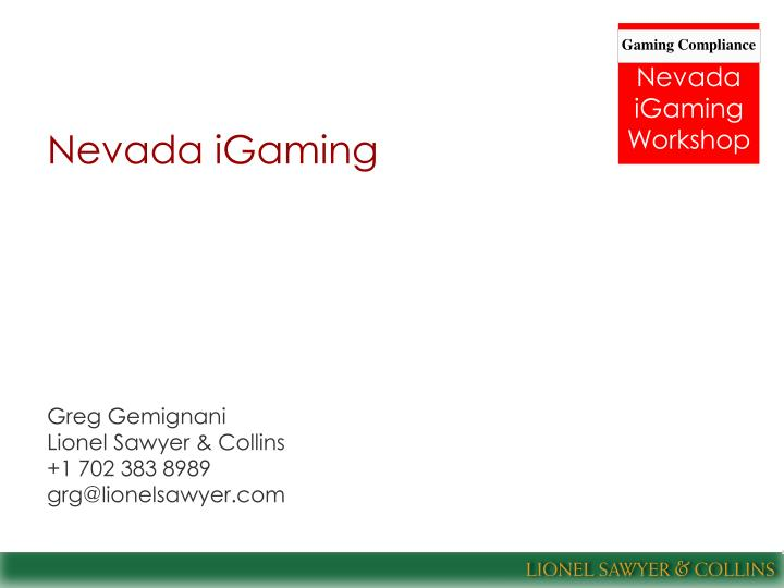 Nevada igaming