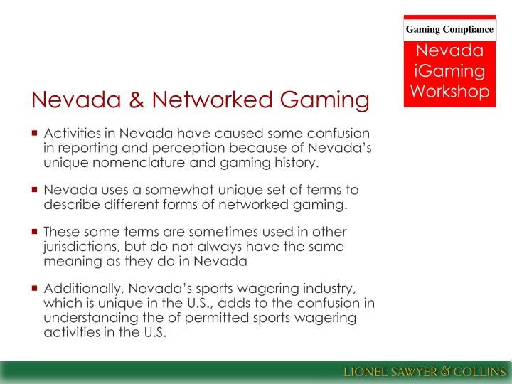 Nevada & Networked Gaming