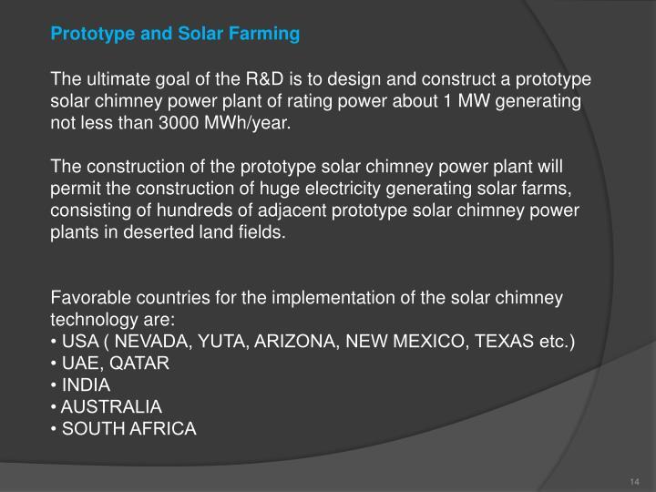 Prototype and Solar Farming