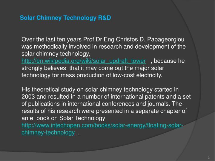 Solar Chimney Technology R&D