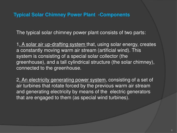 Typical Solar Chimney Power