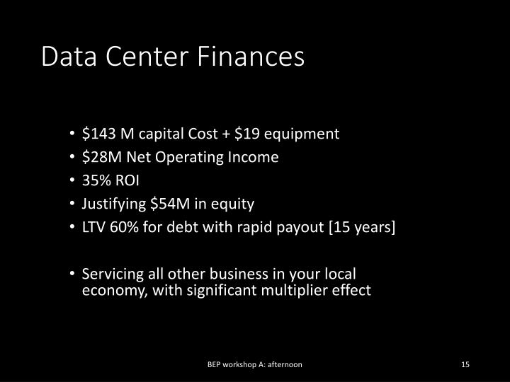 Data Center Finances
