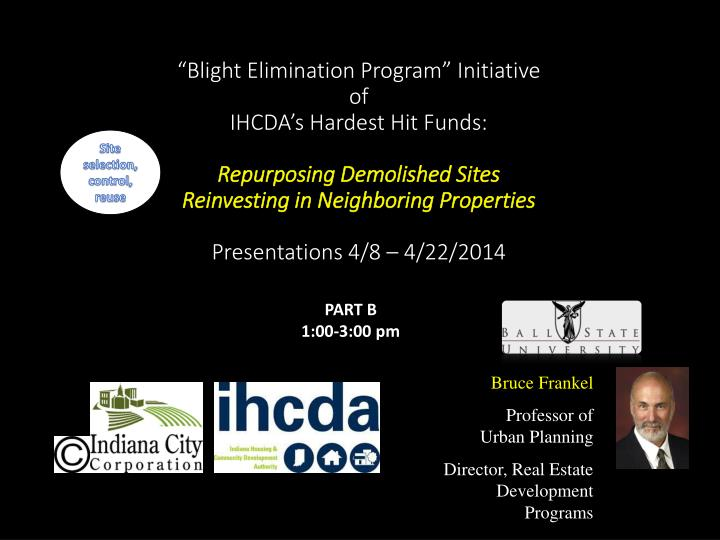 """Blight Elimination Program"" Initiative"