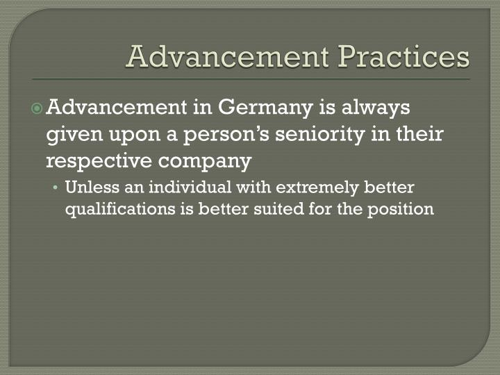 Advancement Practices