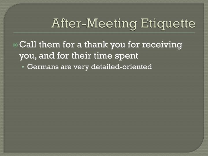 After-Meeting Etiquette