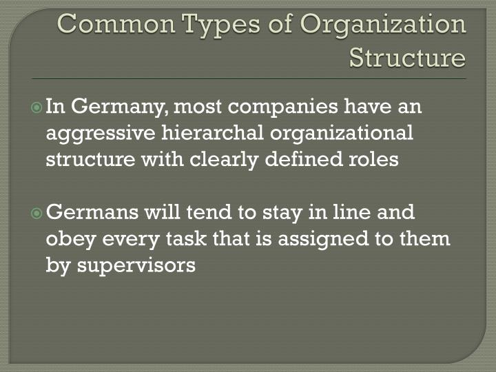 Common Types of Organization Structure