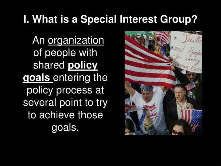 I. What is a Special Interest Group?