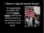 i what is a special interest group