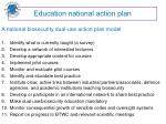 education national action plan