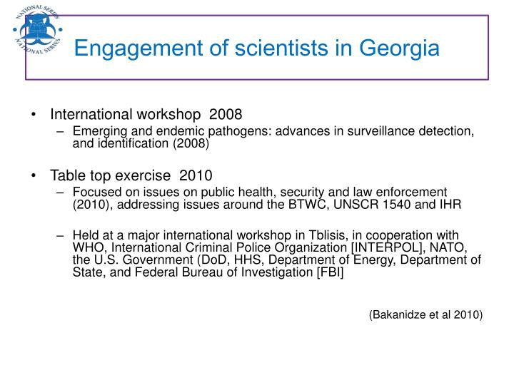 Engagement of scientists in Georgia