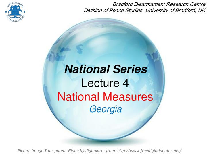 National series lecture 4 national measures georgia
