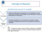 oversight of research