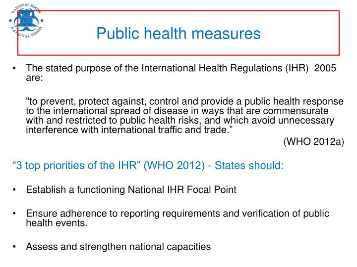 Public health measures