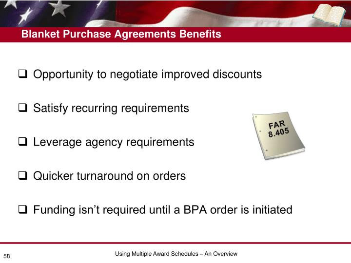 Blanket Purchase Agreements Benefits