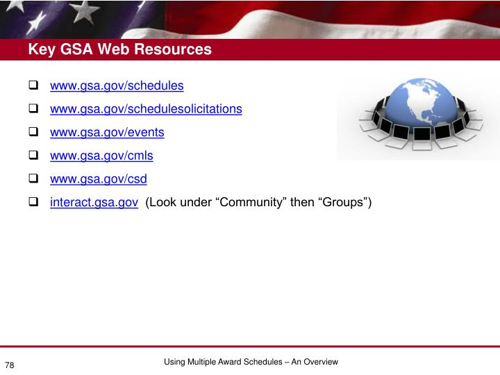 Key GSA Web Resources