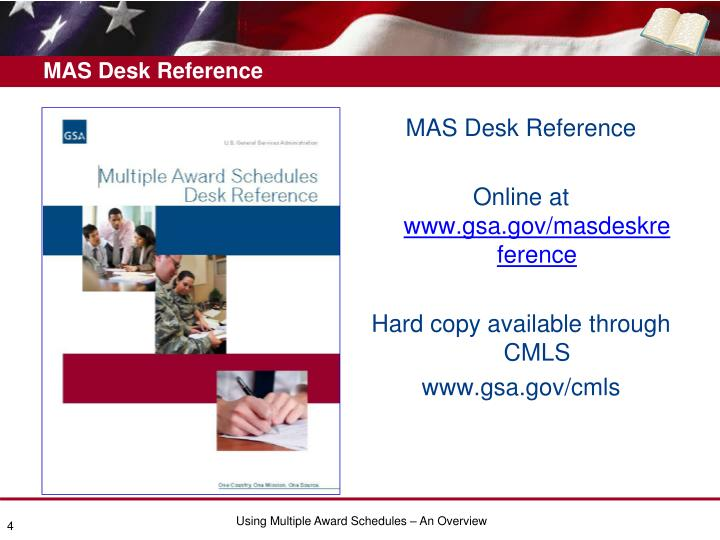 MAS Desk Reference