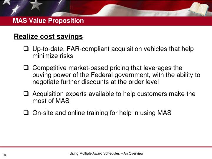 MAS Value Proposition