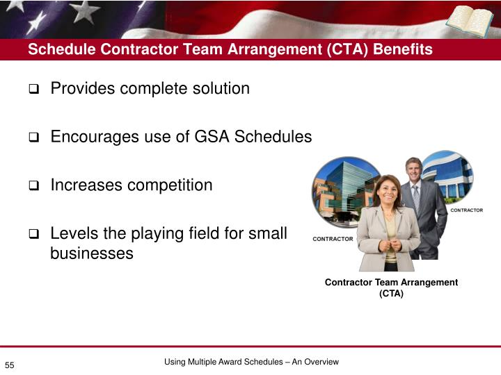 Schedule Contractor Team Arrangement (CTA) Benefits